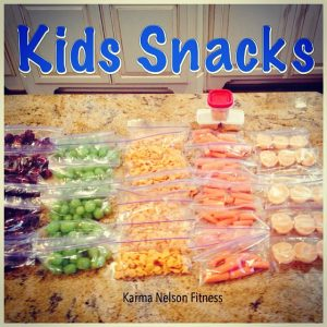 kids snacks in baggies