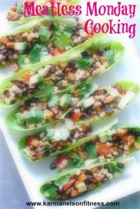 Veg mex salad boats