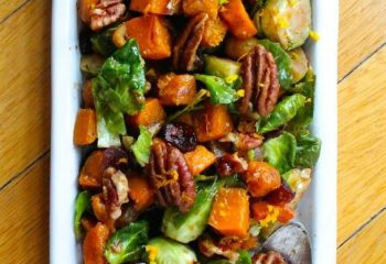 Orange Glazed Brussels Sprouts & Butternut Squash