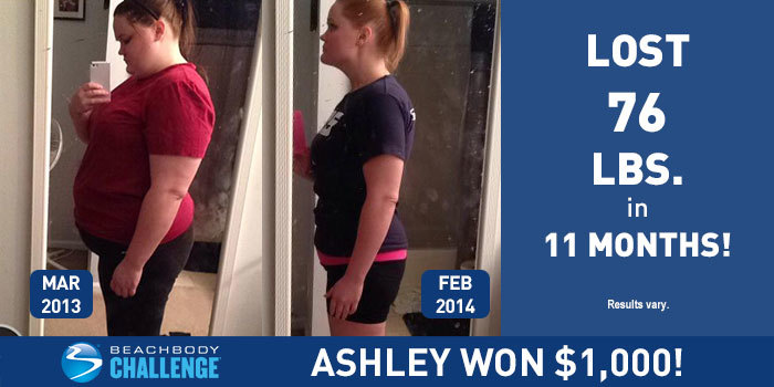 AshleyP shakeology winner
