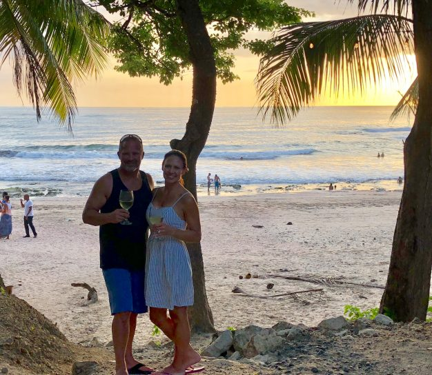 planning a Vacation to Costa Rica, sunset dinner in Nosara
